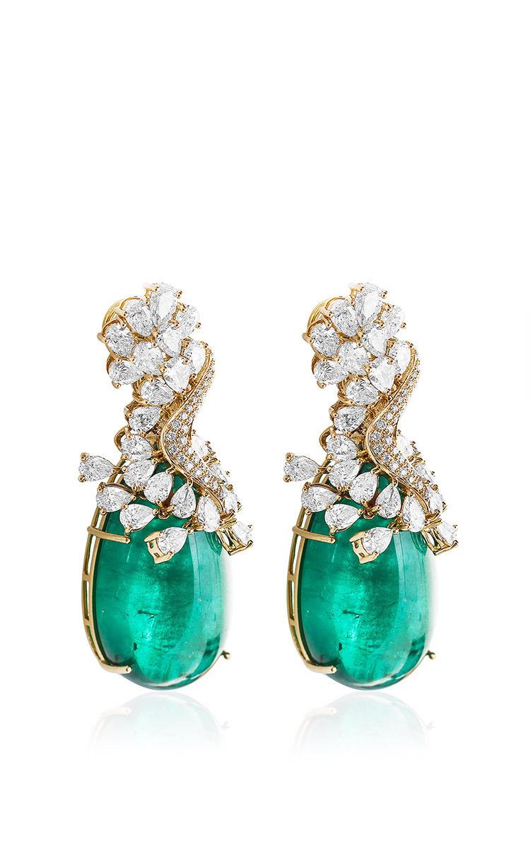 Farah Khan Zambian Emerald Earrings By Farah Khan Fine