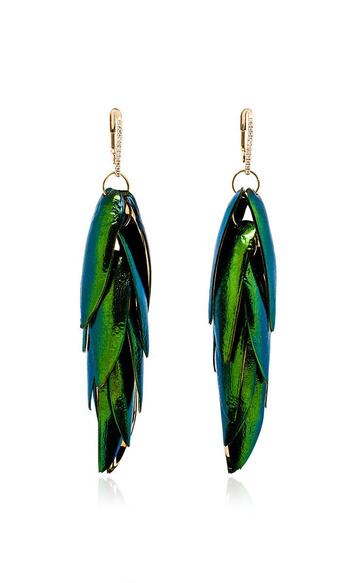 Bibi van der Velden Scarab Bunch earrings Mzw6GmvR