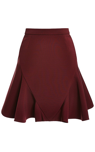 Medium cushnie et ochs burgundy power viscose skirt 4
