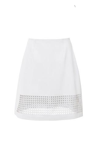 Medium zoe jordan white leather montfort skirt