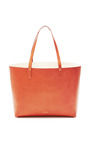 Large Coated Leather Tote In Brandy With Cleo Interior by MANSUR GAVRIEL for Preorder on Moda Operandi