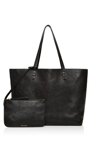 Tumble Leather Tote In Black by MANSUR GAVRIEL for Preorder on Moda Operandi