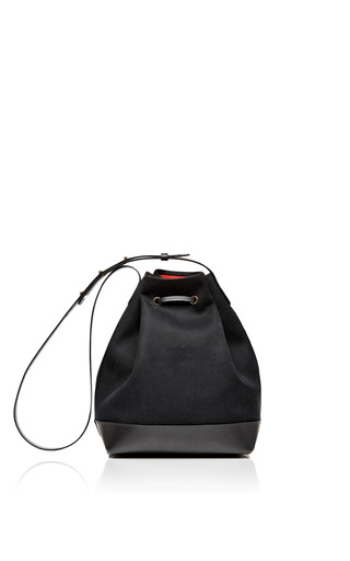 Black Canvas And Leather Bucket Bag  by MANSUR GAVRIEL Now Available on Moda Operandi