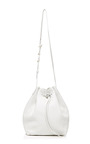 Tumble Leather Bucket Bag In White by MANSUR GAVRIEL Now Available on Moda Operandi