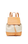 Canvas Backpack In Creme And Creme by MANSUR GAVRIEL Now Available on Moda Operandi