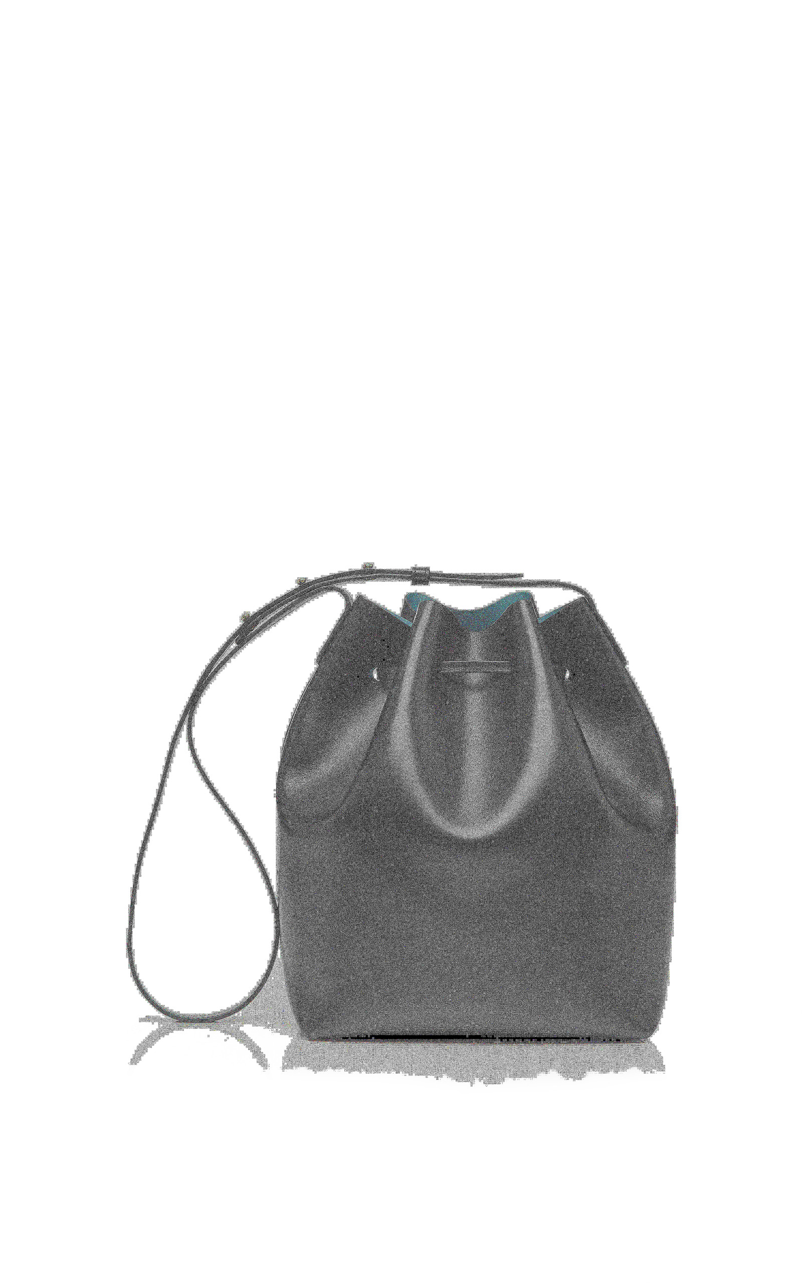 Tumble Leather Mini Mini Bag In Black By Mansur Moda