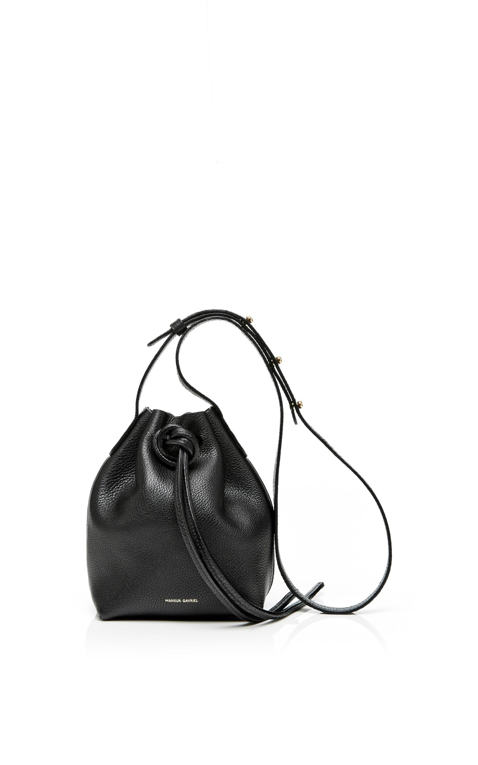fb84d7b50dc0 Tumble Leather Mini Mini Bag In Black by Mansur Gavriel