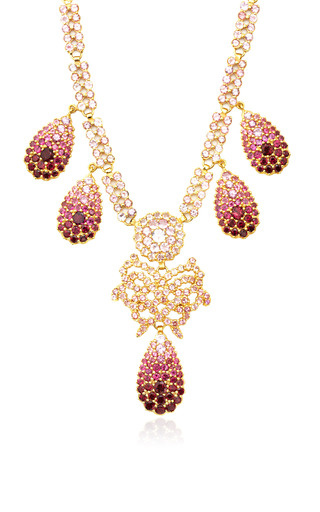 Medium sylvie corbelin red sapphire and tourmaline necklace