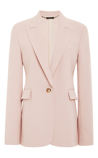 Medium wes gordon pink single breasted one button blazer