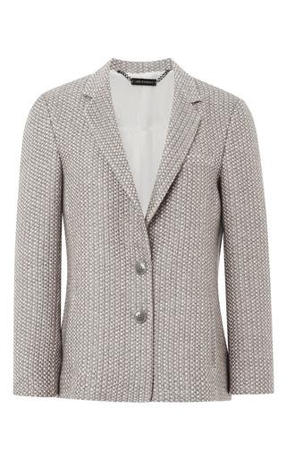 Medium wes gordon brown celadon tweed two button blazer
