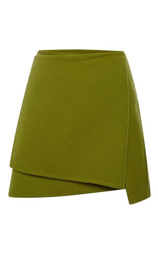 Medium peter som olive olive apron wrap skirt