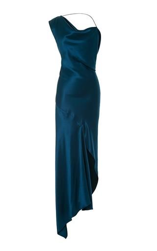 Medium cushnie et ochs blue double charmeuse blue nile dress 2