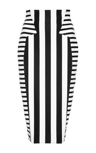 Medium cushnie et ochs multi striped neoprene skirt 2