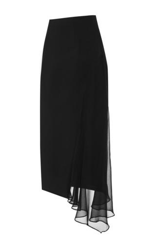 Medium cushnie et ochs black power viscose and chiffon black skirt