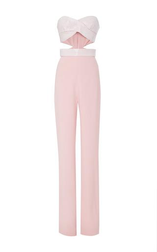 Medium cushnie et ochs pink embroidered stretch cady desert rose jumpsuit