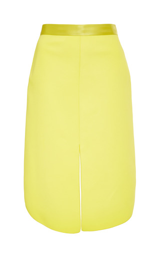 Medium dion lee yellow yellow opacity skirt