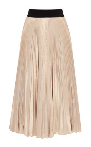 taffeta pleated skirt in beige by tome moda operandi