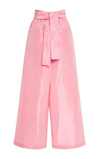 Medium tome pink taffeta karate pants in pink