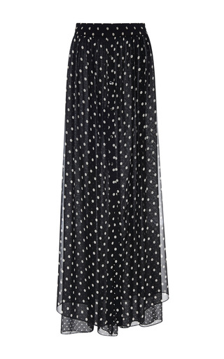 Medium thakoon white polka dot chiffon fluid pant