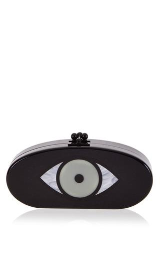 Medium edie parker black edie eye clutch