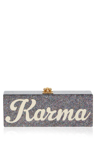 Medium edie parker multi flavis karma clutch