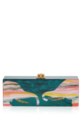 Medium edie parker green flavia trunks clutch 2