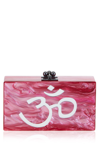 Medium edie parker pink jean mantra clutch