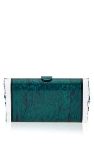 Medium edie parker green lara backlit clutch in green