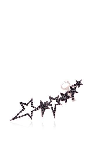 Medium diane kordas gold star earcuff with black diamonds