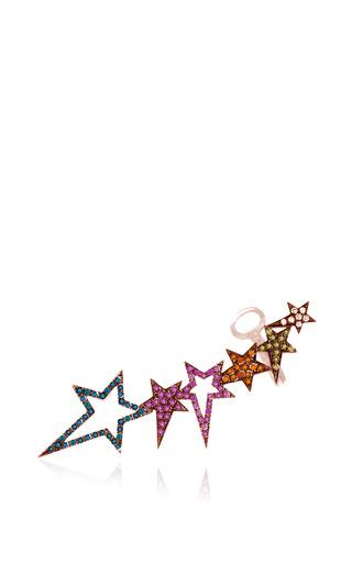 Medium diane kordas multi star earcuff with multicolored sapphires and diamonds