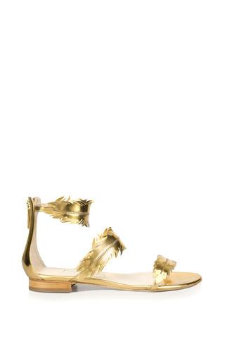 Medium oscar de la renta gold abigail metallic gold leaf sandal
