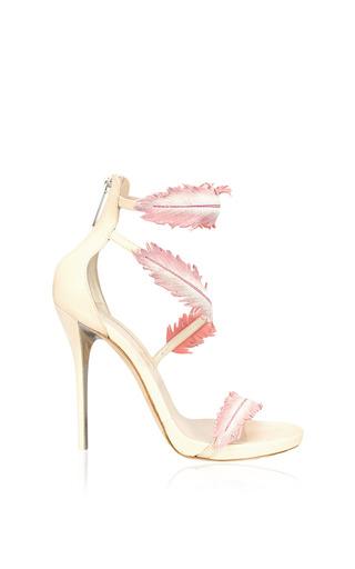Medium oscar de la renta pink aliah wrap around suede sandal