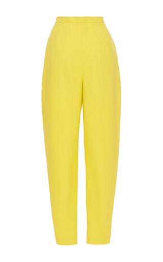 Medium delpozo yellow lemon yellow double paper twill high waisted pant