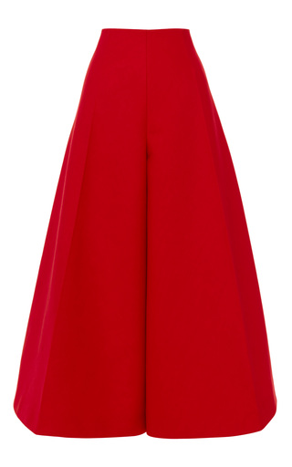 Medium delpozo red carmine red double poplin pant