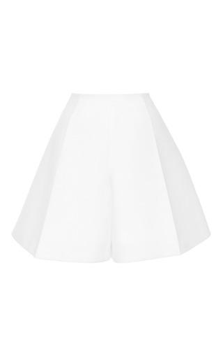 Medium delpozo white optical white double poplin shorts