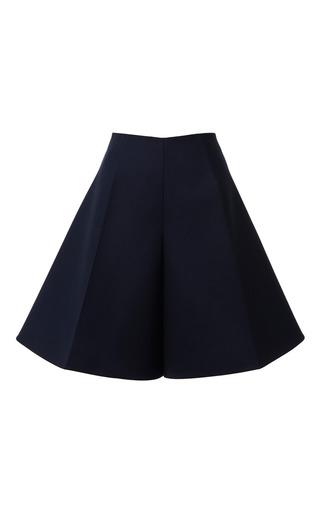 Medium delpozo navy dark navy blue double poplin shorts