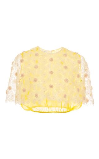 Medium delpozo yellow blazing yellow silk organza top 2