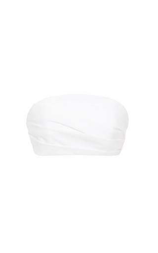 Medium delpozo white optical white double poplin top