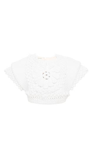 Medium delpozo white optical white cotton top