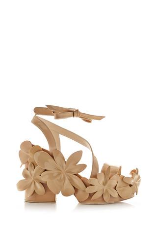 Medium delpozo brown ivory brown patent leather sandal