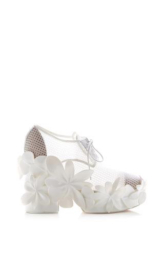 Medium delpozo white optical white mesh bootie
