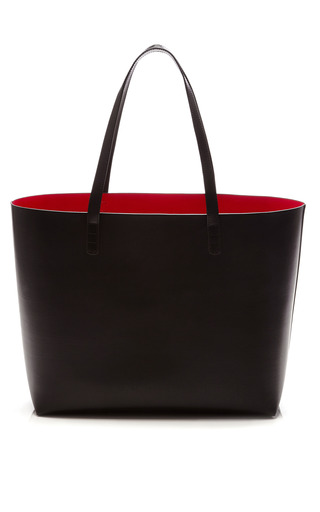 Large Tote In Black With Flamma Interior by MANSUR GAVRIEL Now Available on Moda Operandi