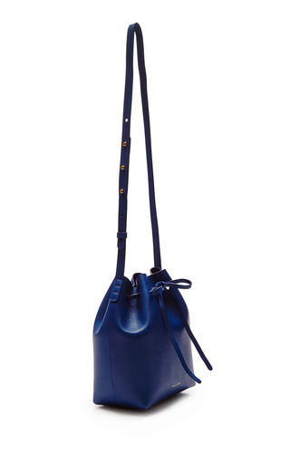 Mini Bucket Bag In Royal With Royal Interior by MANSUR GAVRIEL Now Available on Moda Operandi
