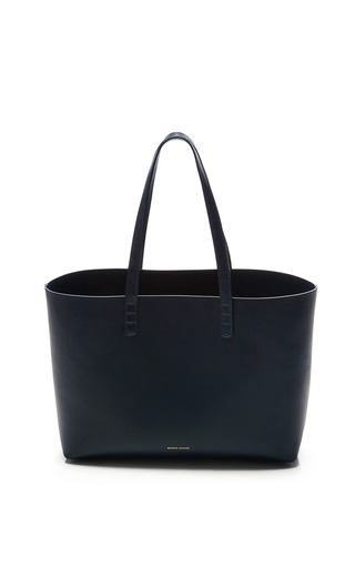 Medium mansur gavriel blue small tote in blu with blu interior 2