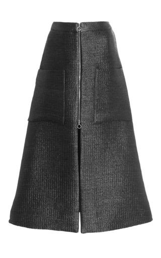 Medium isa arfen black a line zip up skirt in black