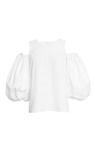 Medium isa arfen white 99 ballon sleeve vest