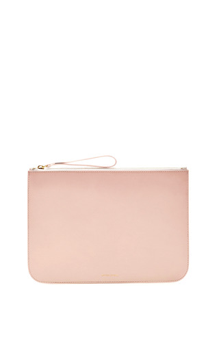 Medium mansur gavriel pink large wallet in rosa with rosa interior 2