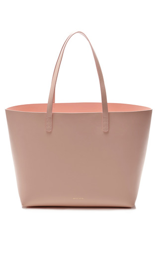 Medium mansur gavriel pink large tote in rosa with rosa interior 2