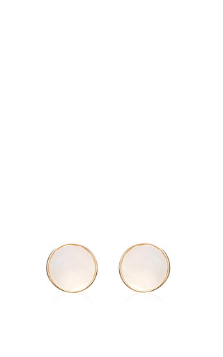 Medium ginette ny white pearl cabochon studs