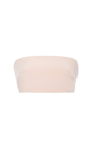 Medium monique lhuillier pink petal silk crepe bandeau top